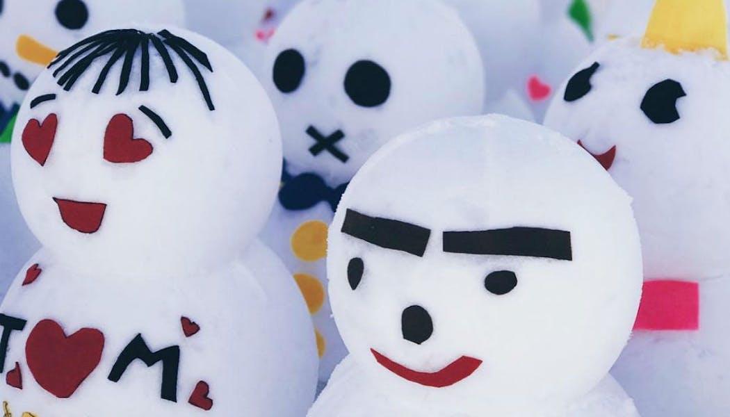 Des bonhommes de neige nippons