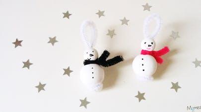 bonhomme de neige pour le sapin