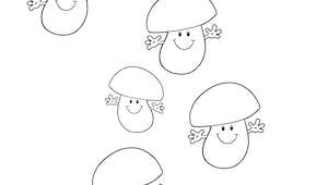 Des champignons à pois - exercice