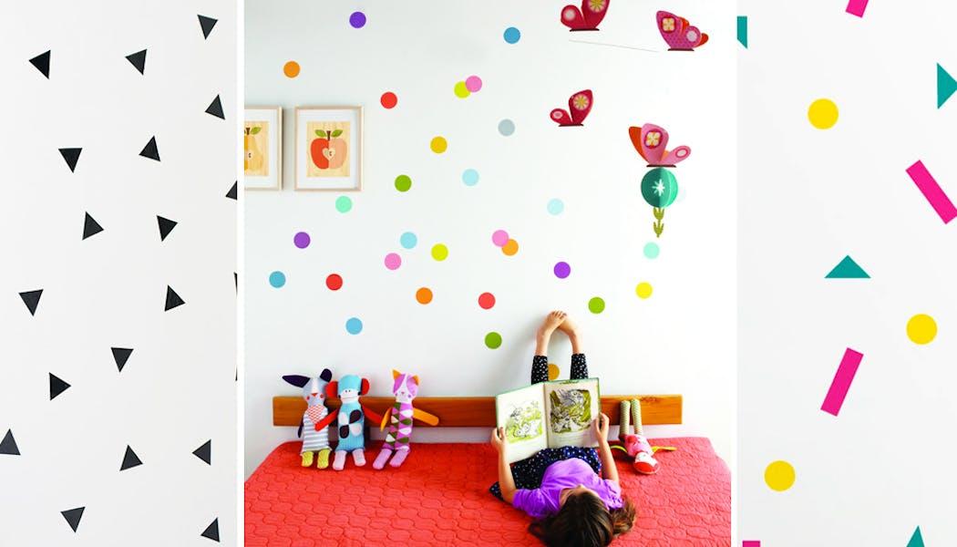 Des confettis sur les murs !