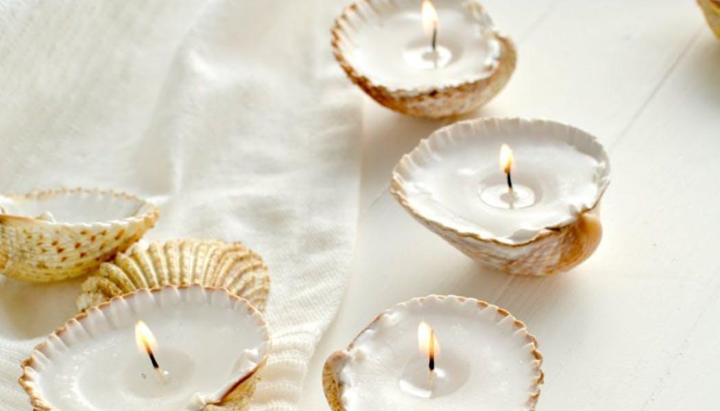 Des coquillages métamorphosés en bougies