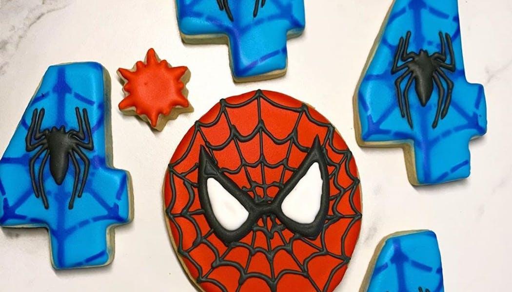 Des délicieux cookies Spider-Man