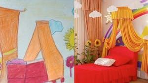 Des enfants dessinent les chambres de leurs rêves et des designers les réalisent