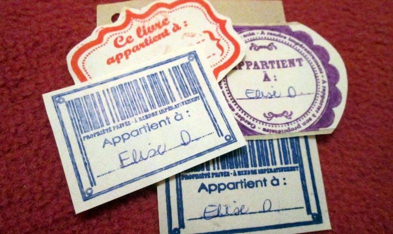 Des étiquettes à l'ancienne