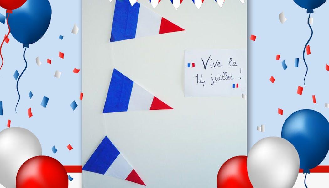 Des fanions aux couleurs de la France