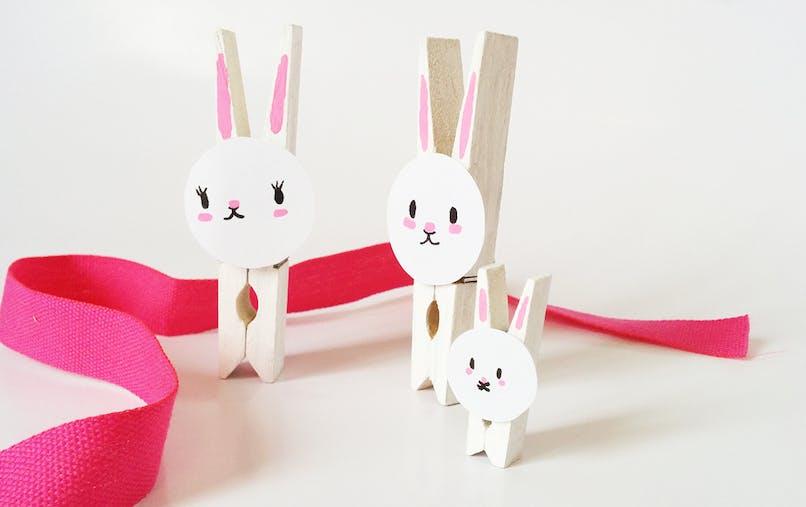 fabriquer des lapins en pinces à linge