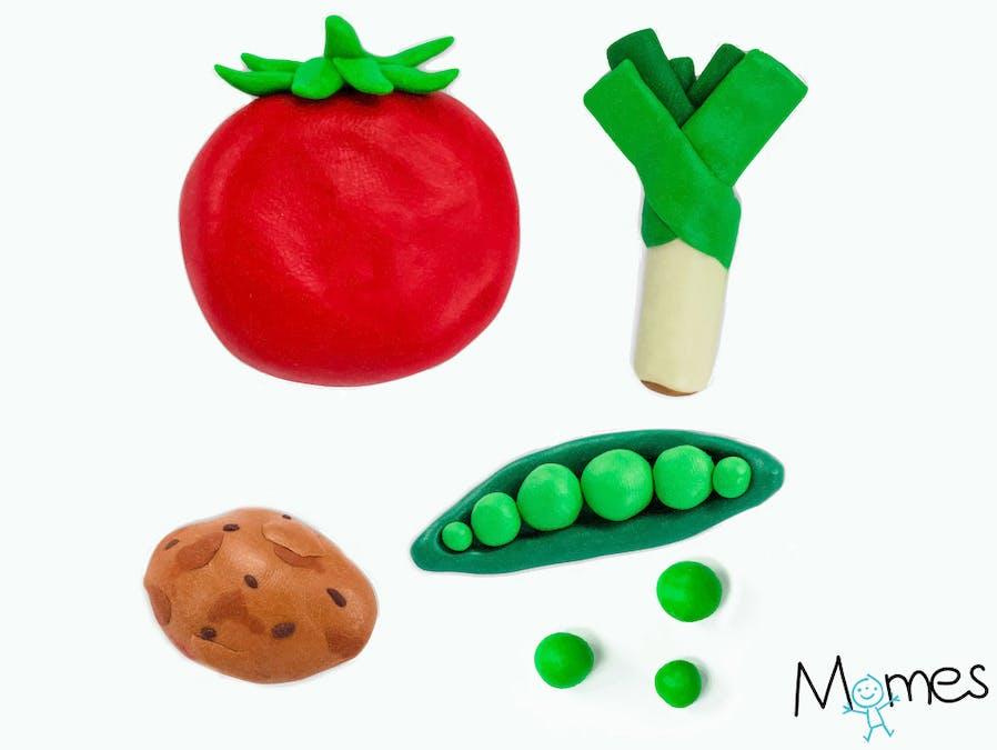 Des légumes en pâte à modeler