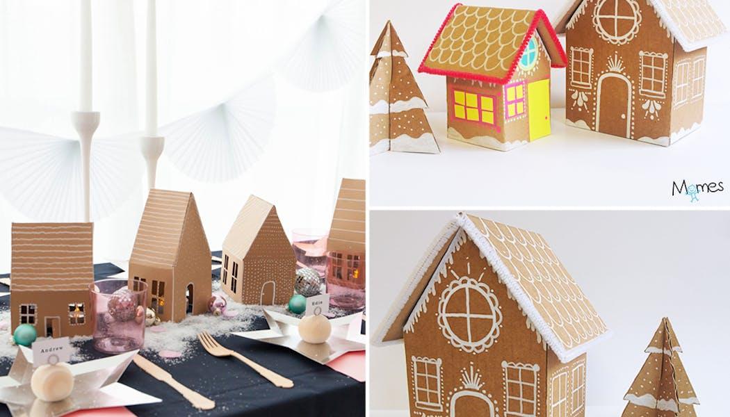 idées décorations Noël rapides simples faciles         dernière minute maisons en pain d'épices à fabriquer