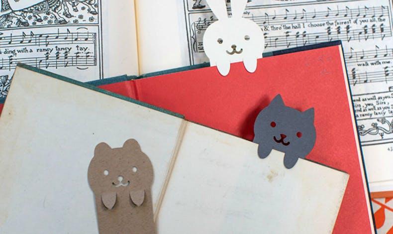 Des marque-pages avec des z'animaux