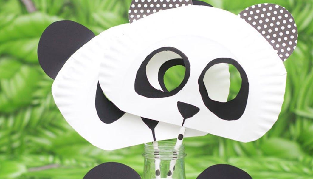 bricolage masques panda assiettes en carton
