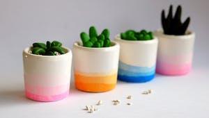 Des petits pots Tie & Dye