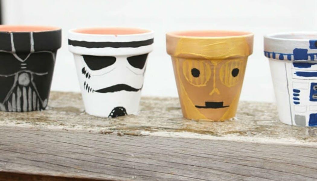 Des pots Star Wars