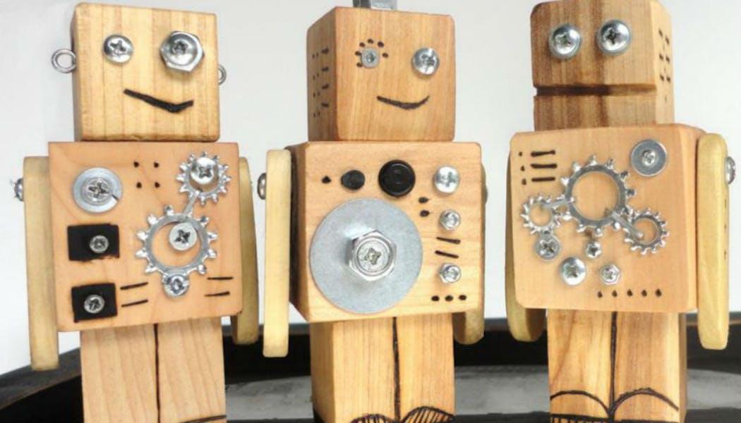 Des robots en bois
