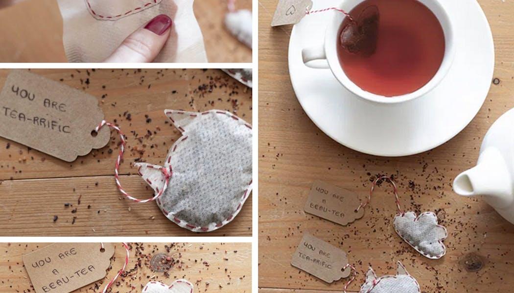 idées cadeaux Noël DIY faire soi-même bricolages Des         sachets de thé de Noël