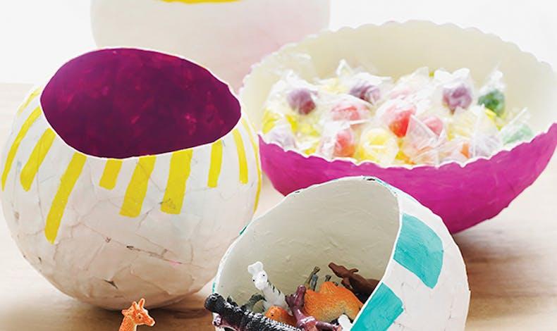 bols en papier mâché