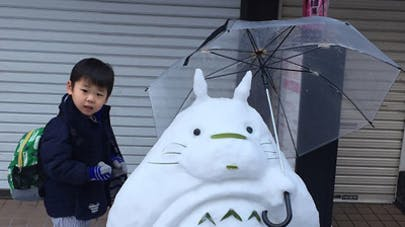 sculptures de neige kawaï Japon