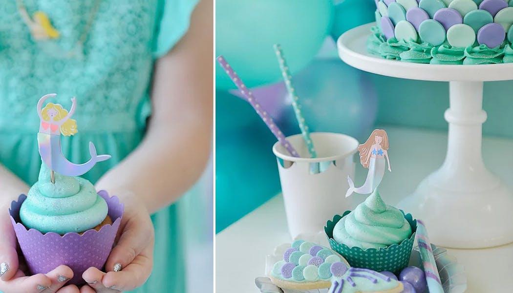 Des superbes cupcakes sirène