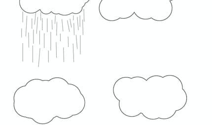 Dessine la pluie - exercice à imprimer