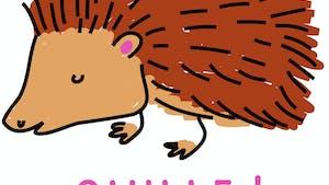 Dessine les poils piquants des hérissons