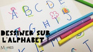 Dessiner avec l'alphabet