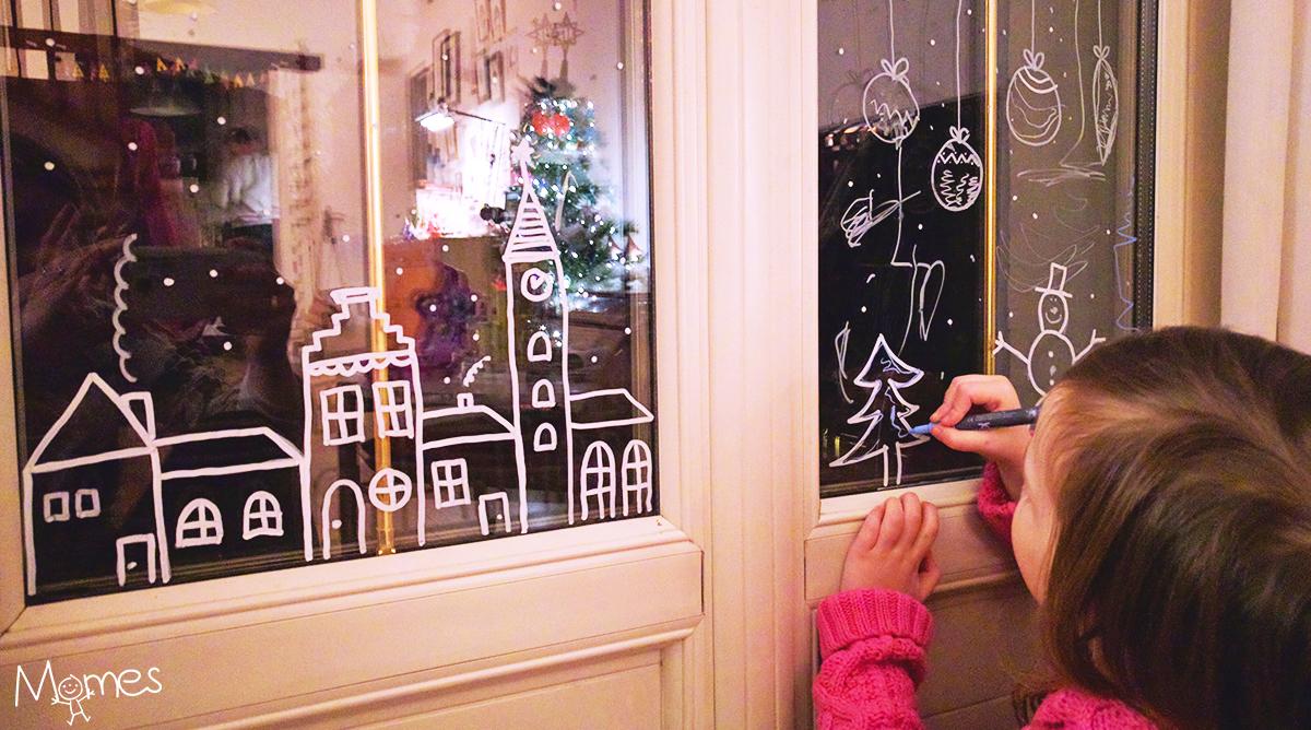 Dessiner Des Decorations De Noel Sur Les Vitres De La Maison Momes Net