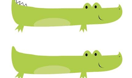Deux crocodiles