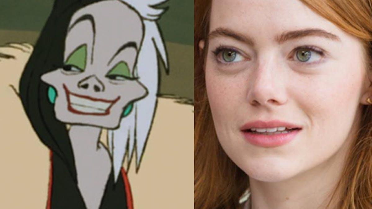film Disney Cruella d'Enfer 101 dalmatiens méchante Emma       Stone