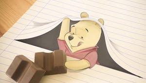 Disney : il dessine et joue avec les lignes des cahiers pour créer des personnages de dessins animés