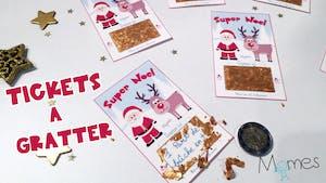 DIY : Les tickets à gratter pour Noël