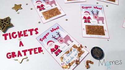 Les tickets à gratter pour Noël - Do it Yourself