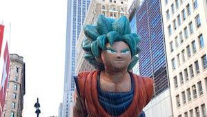 Dragon Ball : un Son Gokû géant dans les rues de New York !