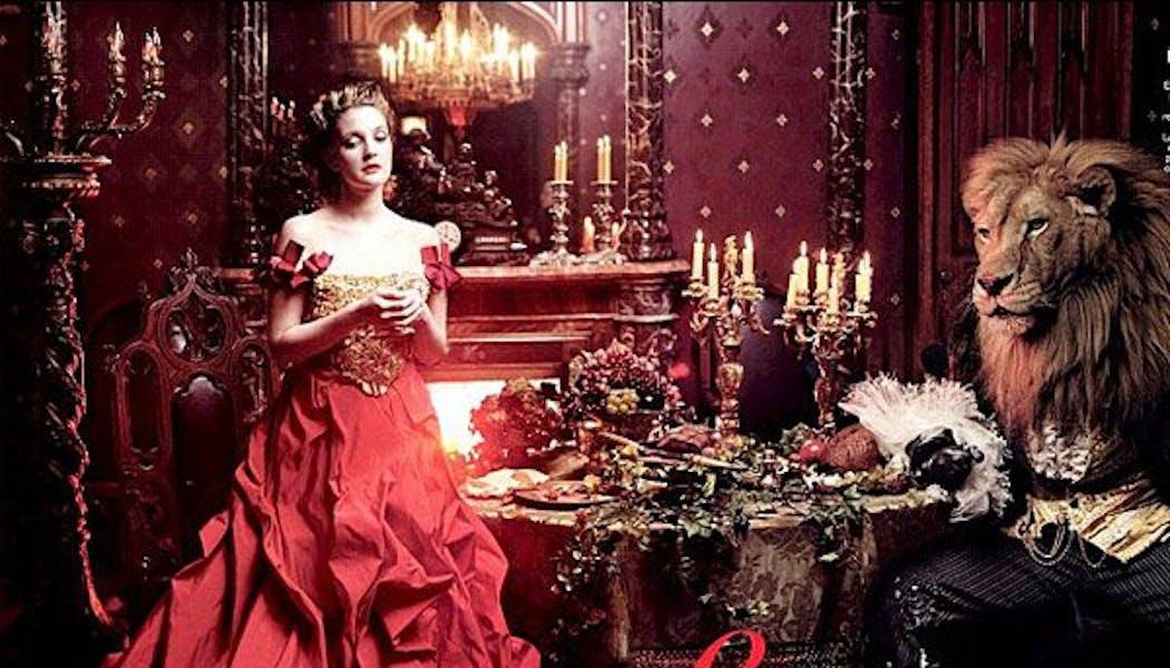 Drew Barrymore (Belle dans La Belle et la       Bête)