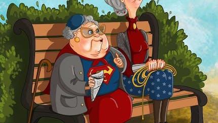 Elle dessine nos héros préférés une fois vieux...