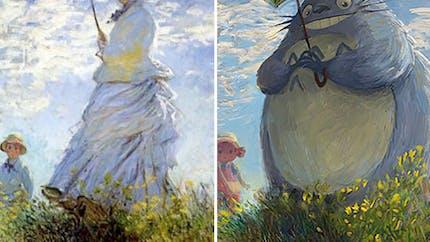 Elle imagine de célèbres peintures classiques avec des personnages de la pop culture