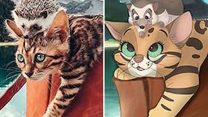 Elle redessine nos animaux à la manière de Disney