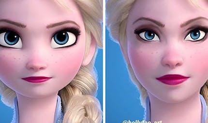 Et si les visages des princesses Disney avaient des proportions réalistes ?