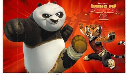 Eventail chinois 2 - Kung-Fu Panda