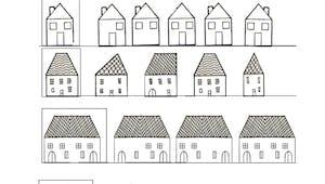 Exercice d'observation et graphisme : les maisons 2