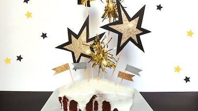 décoration gâteau nouvel an