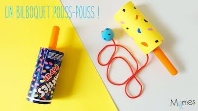 fabriquer un bilboquet avec une glace pouss pouss
