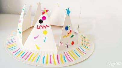 fabriquer une couronne assiette en carton