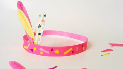 DIY couronne indienne