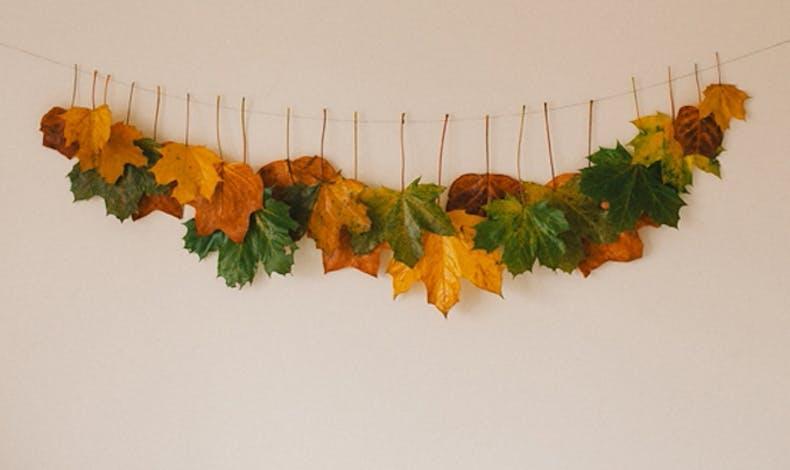 Fabriquer une guirlande de feuilles mortes