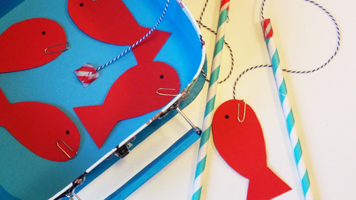 bricolage peche à la ligne poissons