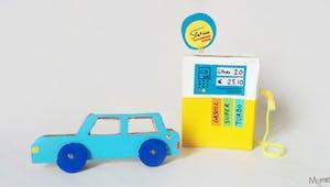 Fabriquer une station service pour petites voitures