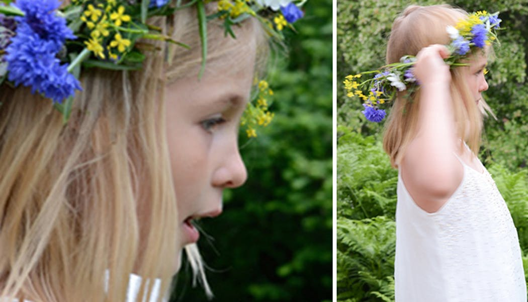 Faire une couronne de fleurs