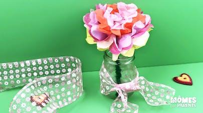 Fleur papier de soie