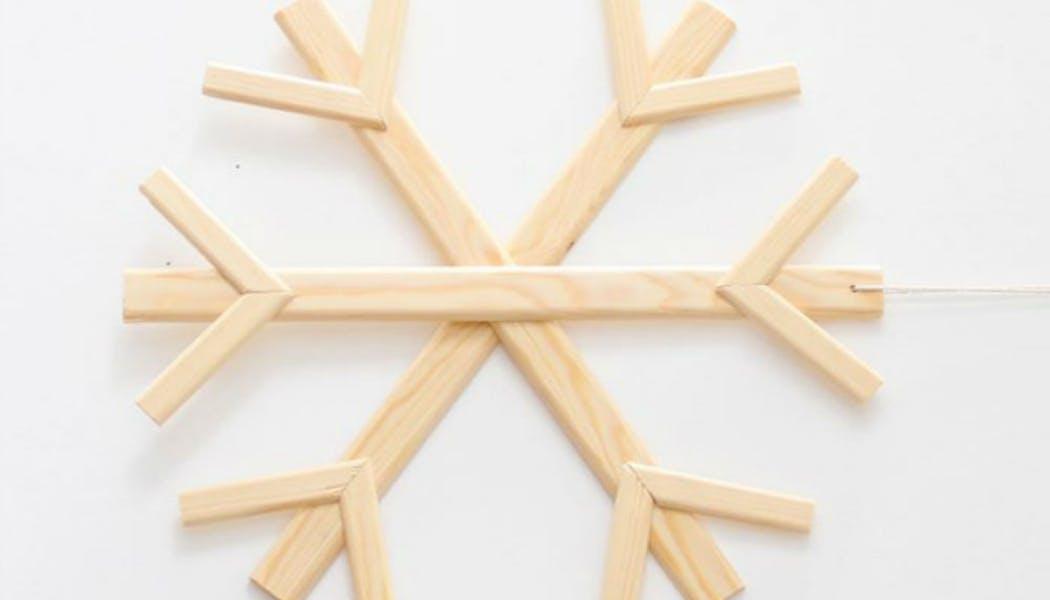 Flocon de neige en bois
