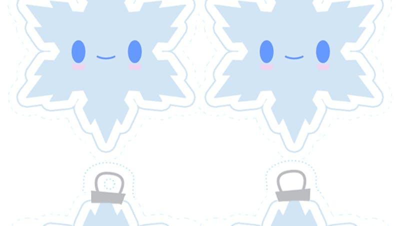 décoration flocons de neige