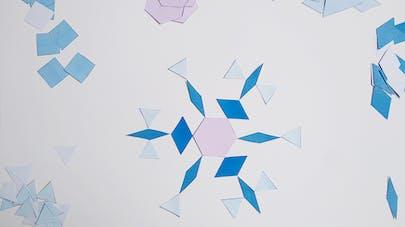 flocons neige géométrique